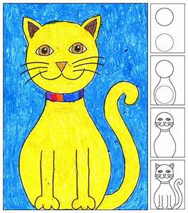 Draw a Sitting Cat - Art Projects for Kids