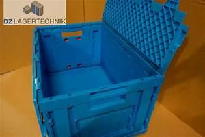 Klappbox Mit Deckel : klappbox fk 6320 mit deckel in blau von ssi sch fer 600x400x320mm dz lagertechnik ~ Markanthonyermac.com Haus und Dekorationen