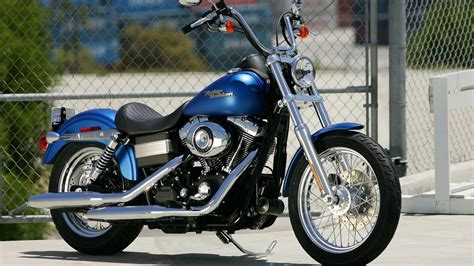 Electric Blue Harley Davidson Motorcycle