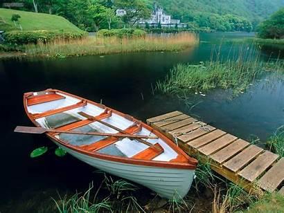 Boat Wooden Ireland Galway Abbey Kylemore Connemara