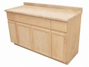 Kapal Wood Products Suk60un 60 In Unfinished Oak Sink Base