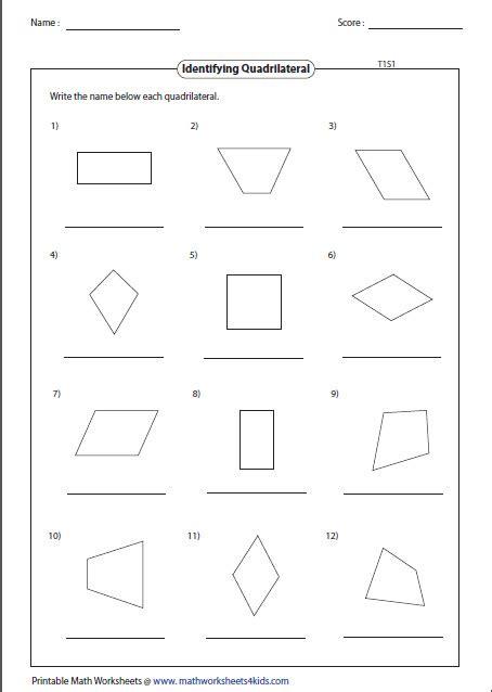 classifying quadrilaterals worksheet homeschooldressage
