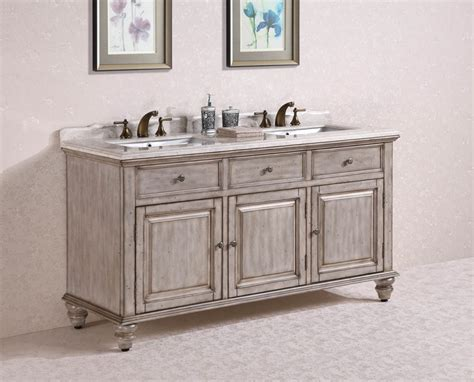 Inch Double Sink Bathroom Vanity In Antique White