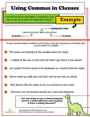 master the comma comma worksheets for 3rd graders