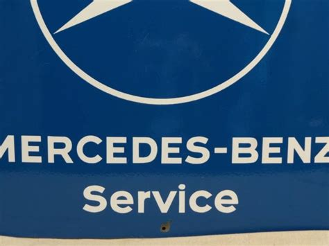 porcelain benz mercedes service sign icollect247