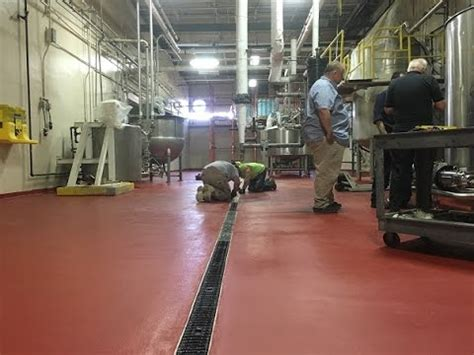food processing plant retrofit trench drains sloping