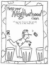 Clean Coloring Keep Pages Neighborhood Environment Trash Printable Conservation Drawing Keeping Colouring Throwing Cleaning Save Sciencekids Earth Nz Neighbourhood Ground sketch template