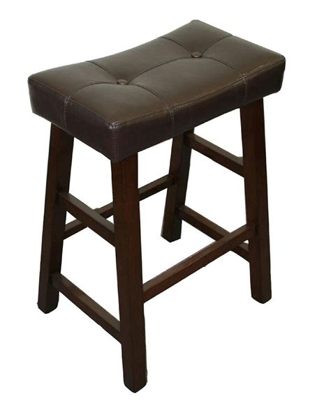 stools bar inch backless stool wicker saddle counter tufted sears perfect