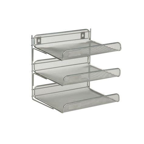 3 tier desk organizer honey can do 3 tier steel desk organizer in silver ofc