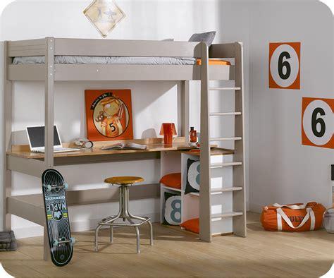 lit à étage avec bureau bureau pour lit mezzanine clay