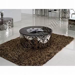 Table Basse Ronde Marbre : table basse ronde en marbre ~ Teatrodelosmanantiales.com Idées de Décoration