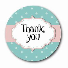 Thank You Stickers  Shabby Chic Style, Green And Pink Polka Dots  60mm Stickerzone