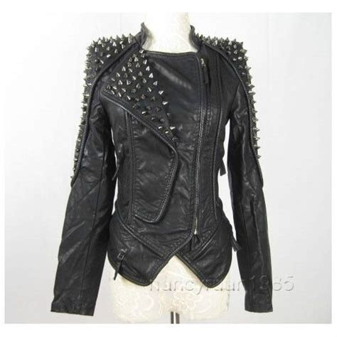 Details About New Womens Punk Spike Studded Shoulder