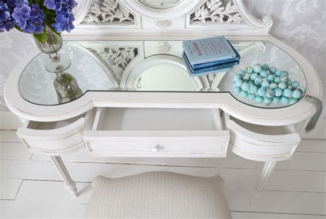 white shabby chic dressing table provencal white dressing table shabby chic style south east by the french bedroom company
