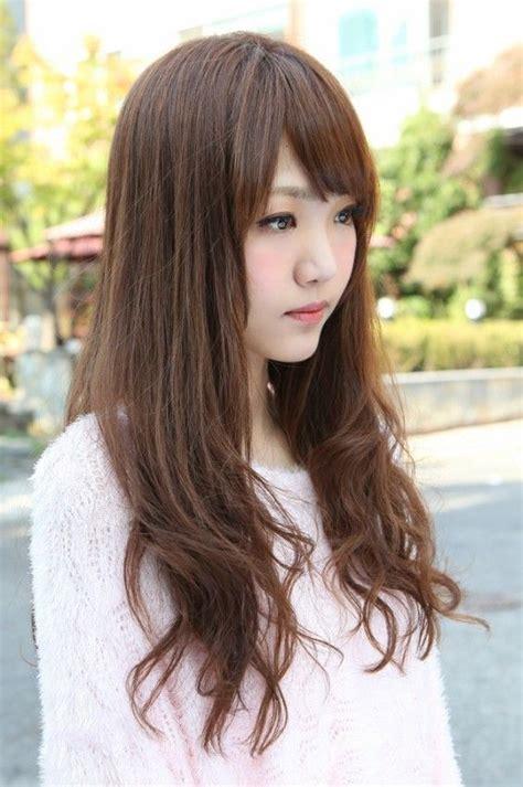 side view  korean long hairstyle fashion hair styles