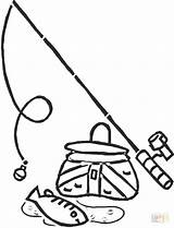 Fishing Pole Coloring Rod Drawing Printable Pages Getcolorings Colorin Getdrawings Print sketch template