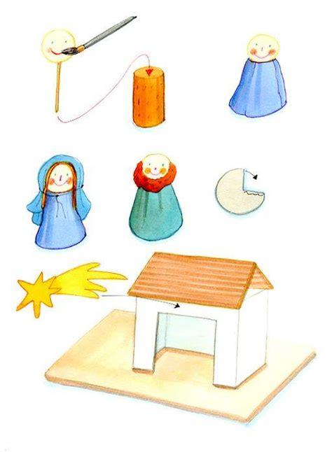 krippe basteln kinder basteln mit kindern kostenlose bastelvorlage advent winter und weihnachten weihnachtskrippe