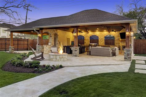 Outdoor Patio Area by Expanded Outdoor Living Area In Houston Custom Patios