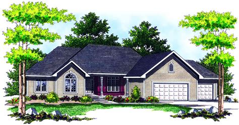 traditional ranch home plan ah architectural