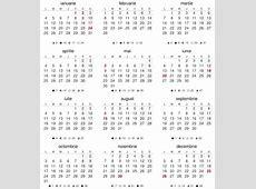 Calendar Pe Luni 2016 Calendar Template 2018