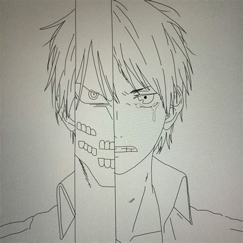 Cool Anime To Draw How To Draw Eren And Titan Eren