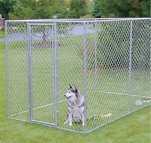 Xxl outdoor dog kennel large tall chain link fence pet for Dog fence enclosure