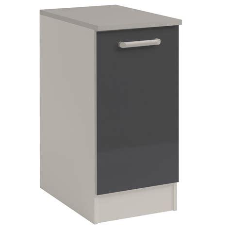 petit meuble bas cuisine meuble bas cuisine 1 porte 40cm quot shiny quot gris