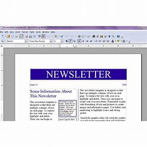 image gallery newsletter templates office With openoffice newspaper template