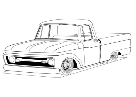 truck coloring pages getcoloringpagescom