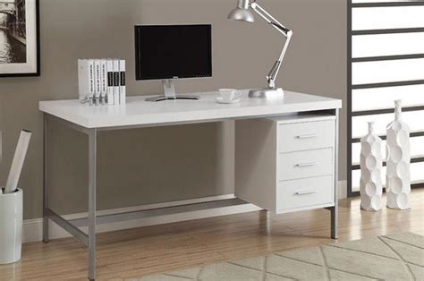 modern white computer desk image gallery modern computer table