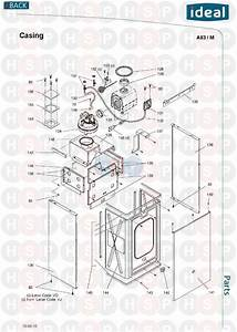 Ideal Mini He C24  Casing  Diagram
