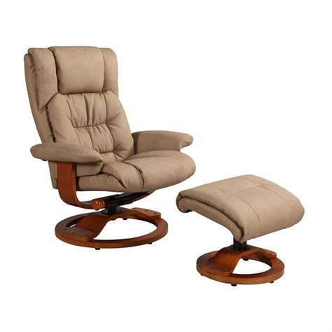 leather swivel recliner with ottoman mac motion oslo leather swivel recliner with ottoman in