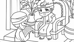 HD Wallpapers Coloring Pages King Hezekiah
