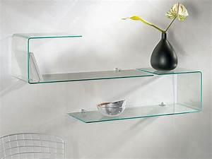 Cd Regal Aus Glas : geformtes regal aus glas flexi ~ Bigdaddyawards.com Haus und Dekorationen