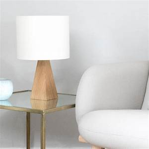 Oak pyramid small table lamp by urbansize for Oak lamp table 60cm high