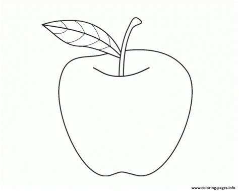 Preschool Apple Fruit S7539 Coloring Pages Printable