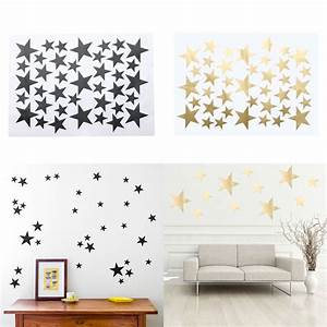 39pcs lot diy star wall stickers five pointed star for Star wall decals