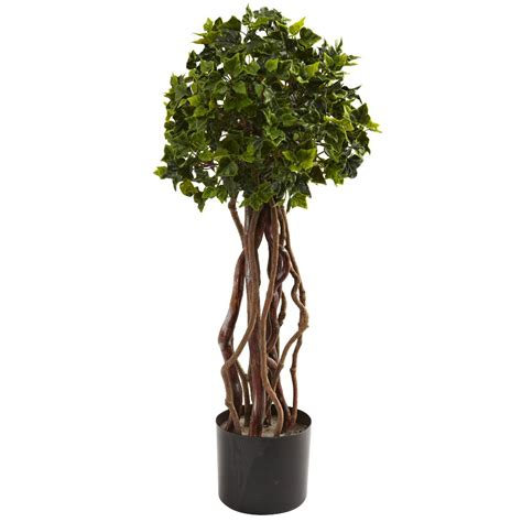 25' English Ivy Topiary Silk Tree Uv Resistant Indoor