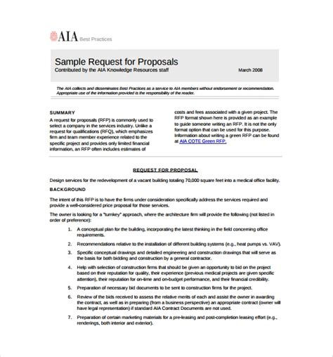 request proposal template   documents   word