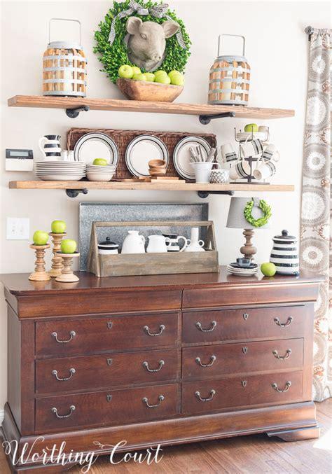 kitchen open cabinets late summer farmhouse open kitchen shelves worthing court Farmhouse
