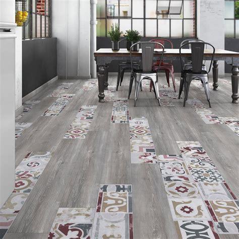 sol stratifié cuisine sol stratifié créativ 39 composition mix bois carreaux de