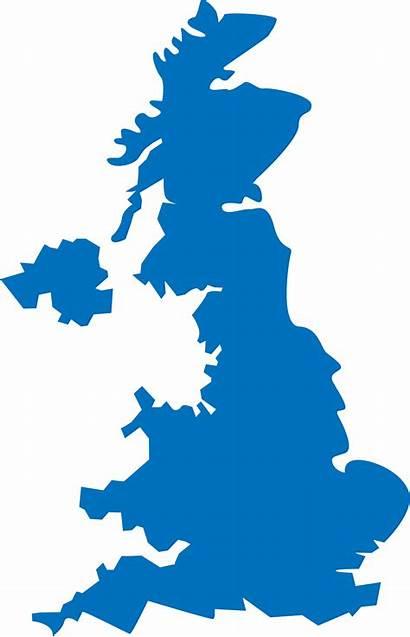 Kingdom Map United England Clipart British