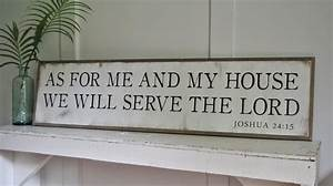 as for me and my house we will serve the lord 139x439 sign With as for me and my house wall art