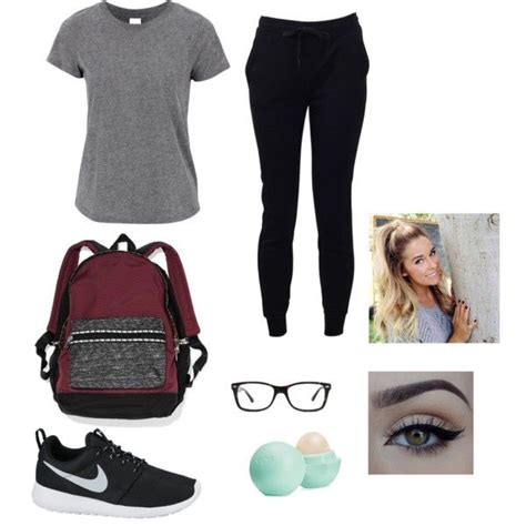 Outfits with nike roshe black polyvore - Google Search | Should wear | Pinterest | Nike roshe ...