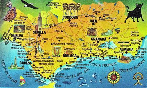 map  andalucia  part  spain    rich