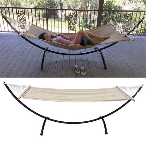 hammock stand heavy duty tri beam steel outdoor patio