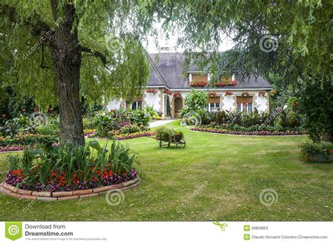 house and garden evron house and garden stock image image of mayenne