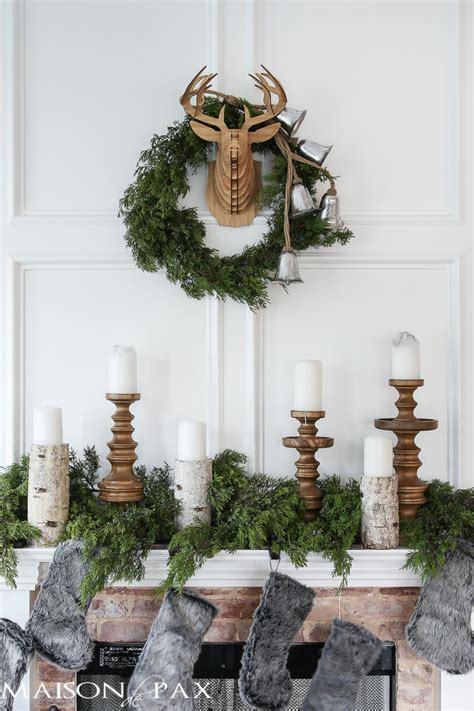winter woodland christmas mantel maison de pax