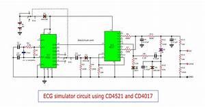 Ecg Simulator Circuit Using Cd4521 And Cd4017