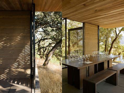 minimalist wine tasting pavilions harmonize  nature
